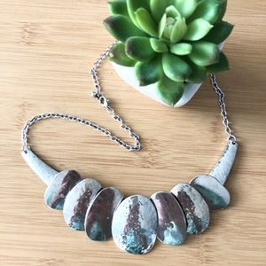 Jewelry - 2/25 Hammered oval necklace